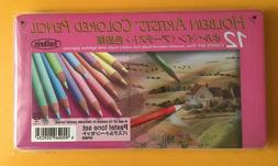 New Holbein Artist Colored Pencils 12 Colors Pastel Tone Set