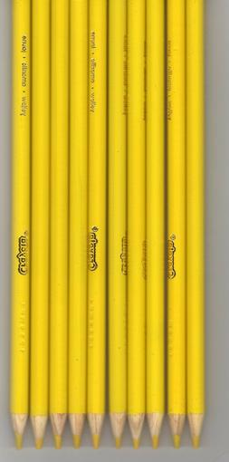 New Crayola Colored Pencils 16 Count Yellow FREE SHIPPING!