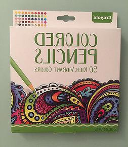 New Crayola Colored Pencils 50 Rich, Vibrant Colors