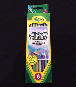 New Crayola Colored Pencils 8 Count Metallic Colors