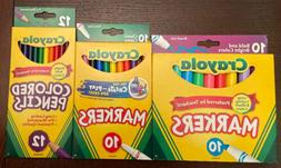 NEW Crayola Colored Pencils, Fine & Broad Line Markers combo