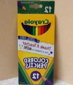 New Crayola Colored Pencils Safe Nontoxic High Quality 12 Co