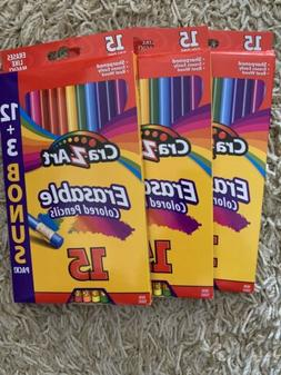 New Cra-Z-Art Colored Pencils 3 packs of 15  - Free Shipping