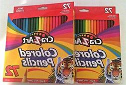 NEW Larry Rosen Cra Z Art Colored Pencils 72 Count - 2 Pack