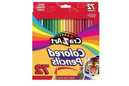 New Cra-Z-art Colored Pencils, 72 Count Bright, Vivid Colors