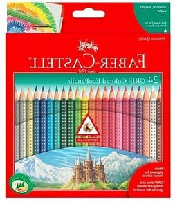 NEW FABER CASTELL 24 Grip Colored Eco Pencils Set Triangular
