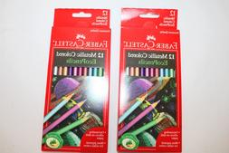 New Faber-Castell Lot of-2 Packs Metallic Colored Eco Pencil