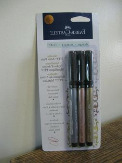 New! Faber-Castell Pitt Artist Pens ~ Metallic ~ Gold, Coppe