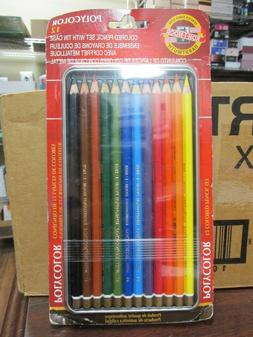 NEW!! Koh-I-Noor POLYCOLOR 12pc Asst Colored Drawing Pencils