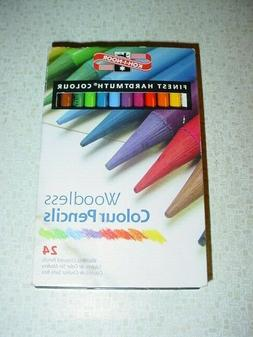 NEW Koh-I-Noor Progresso Woodless Colored Pencils 24 Color S