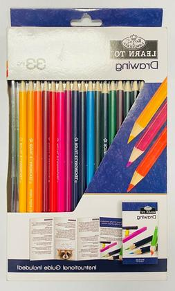New Royal Langnickel  Learn to Draw Color Pencils 33PC Sharp
