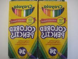 NEW SEALED 24 Nontoxic Crayola Colored Pencils **2 PACKS = 4