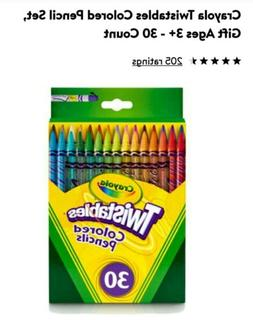 NEW Crayola Twistables Colored Pencils 30 CT.