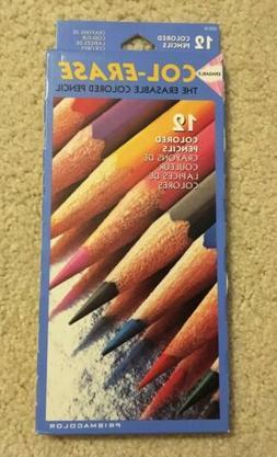 NIB New Prismacolor Col-Erase 12 Erasable Colored Pencils 20