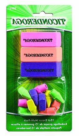 Dixon Ticonderoga Office and School Eraser Combination Set,