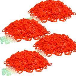 Bluedot Trading 2400-Piece Orange Rubber Band Kids Craft wit