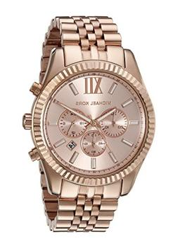 Michael Kors Oversize Rose Golden Stainless Steel Lexington