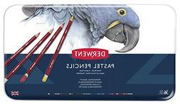 Derwent Pastel Pencils, 4mm Core, Metal Tin, 36 Count
