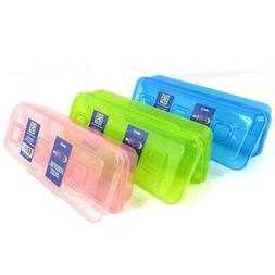 Pencil Box, Assorted Colors, Case Pack of 48, Ideal for Bulk