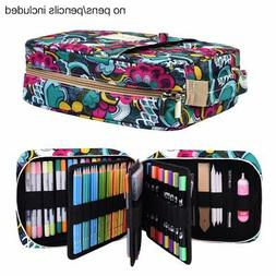Pencil Case Holder Slot - Holds 202 Colored Pencils or 13