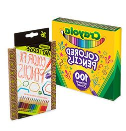 Crayola 100Count Colored Pencil Collection with 16Count Colo