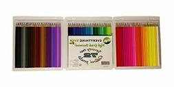 72 Colored Pencil Crayons, Value Pack, High Grade, 100% Trea