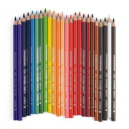 Marco 24 Color Pencil Non-toxic Wooden Premium Soft Core Col
