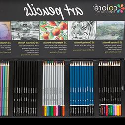 Colore Premium Art Pencils Pack – 50 Assorted Pencil Set f