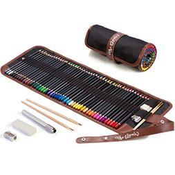 Colored Pencils for Adults - 48 Vivid Watercolor Pencils & C