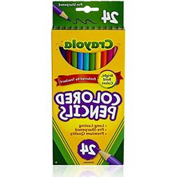 Bulk Buys Colored Pencils - 24 pack - assorted colors - Case