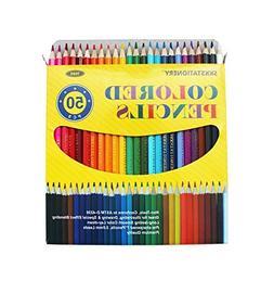 SKKSTATIONERY 50Pcs Colored Pencils,50 Vibrant Colors, Drawi