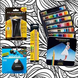 Prismacolor 132-Count Colored Pencils, Triangular Scholar Pe
