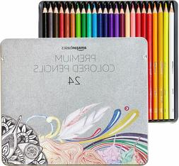 AmazonBasics Colored Pencils - 24-Count