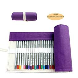 CREOOGO Colored Pencils Case Wrap Roll Holder for Artist Adu
