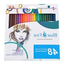 BlueFire Premium Colored Pencils. Coloring Pencils For Adult