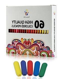 60 Colored Pencils, Soft Core Coloring Pencil Set for Adult