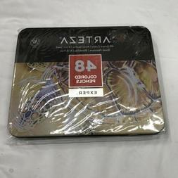 ARTEZA Colored Pencils, Professional Set of 48 Colors, Soft
