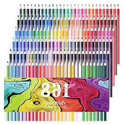 168 Colored Pencils - 168 Count Including 12 metallic & 8 Fl