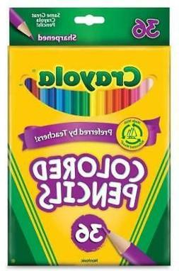 Crayola Colored Pencils Long 36 in a Pack  108 Pencils Total