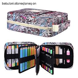 202 Colored Pencils Pencil Case / 136 Color Gel pens Pen Bag
