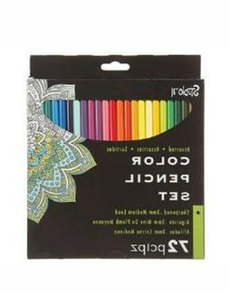 72 pc COLOR PENCILS Colored Pencil Set STUDIO 71 Presharpene