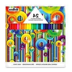 Colored Pencils UrBen Colored Pencil Set with 24 Pieces, Pre