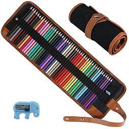 Intsun 50 Colored Pencils Set, Color Pencils Drawing Kit wit