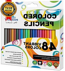 Colored Pencils Set Coloring Drawing 48 Art Color Pens for A