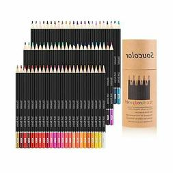 Soucolor 72-color Colored Pencils Soft Core Art Coloring Dra