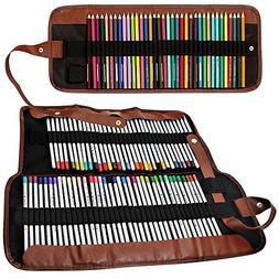 2 Pack Colored Pencils Organizer,SENHAI 48 Slot+ 72 Slot Can