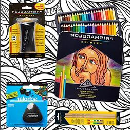 Prismacolor 48-Count Colored Pencils, Triangular Scholar Pen
