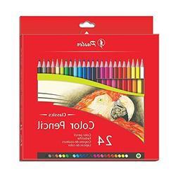 Pasler Color Pensils Set of 24 Pre-Sharpened Colored Pencils