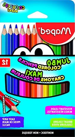 Maped Color'Peps Triangular Jumbo Colored Pencils, Assorted