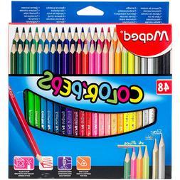 Color'Peps Triangular Colored Pencils 48/Pkg-Assorted